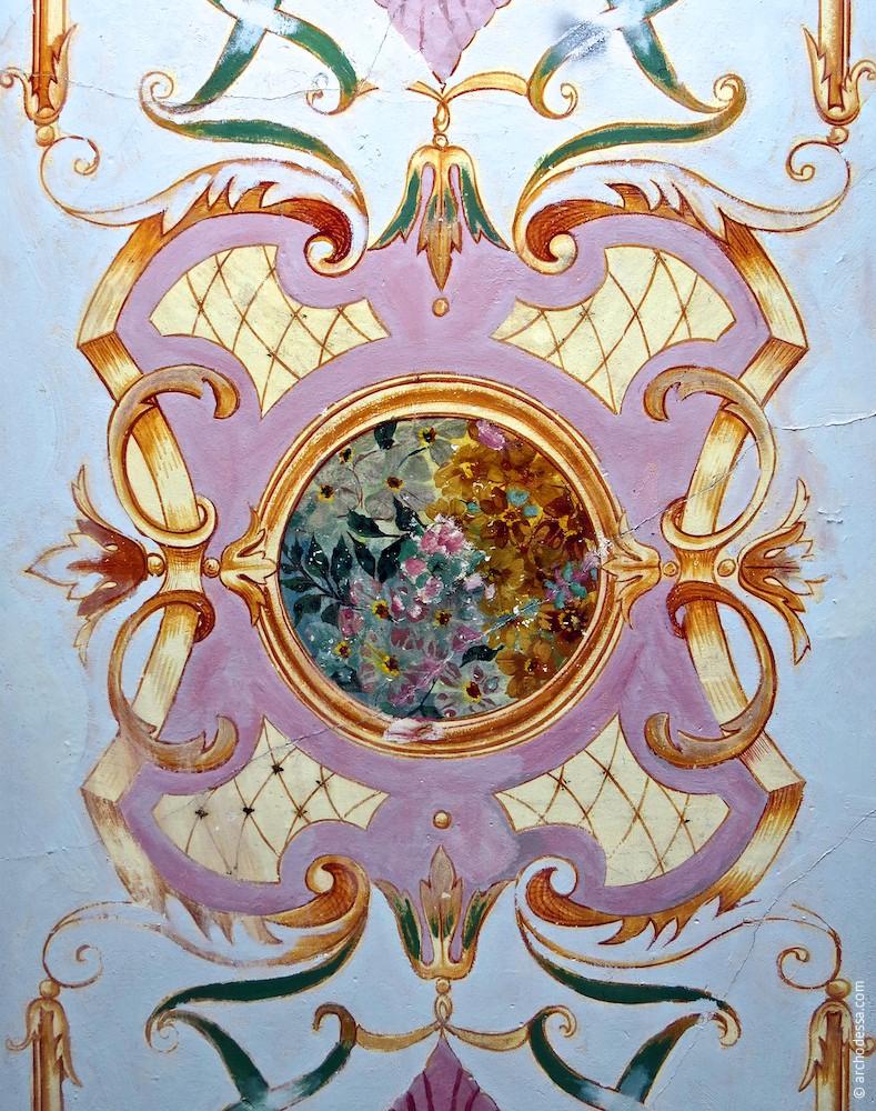 Роспись на потолке вестибюля, фрагмент