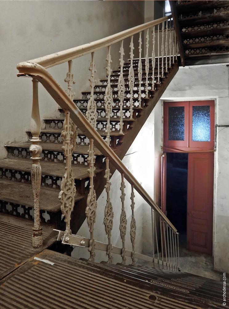 Treppengeländer, Ansicht vom 1. Stock