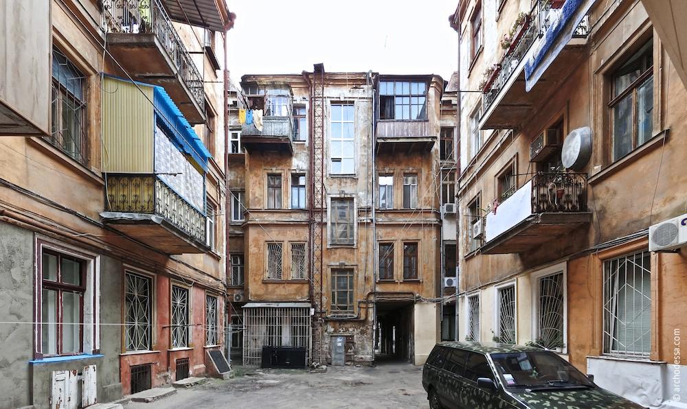 Hoffassade des Vorderhauses