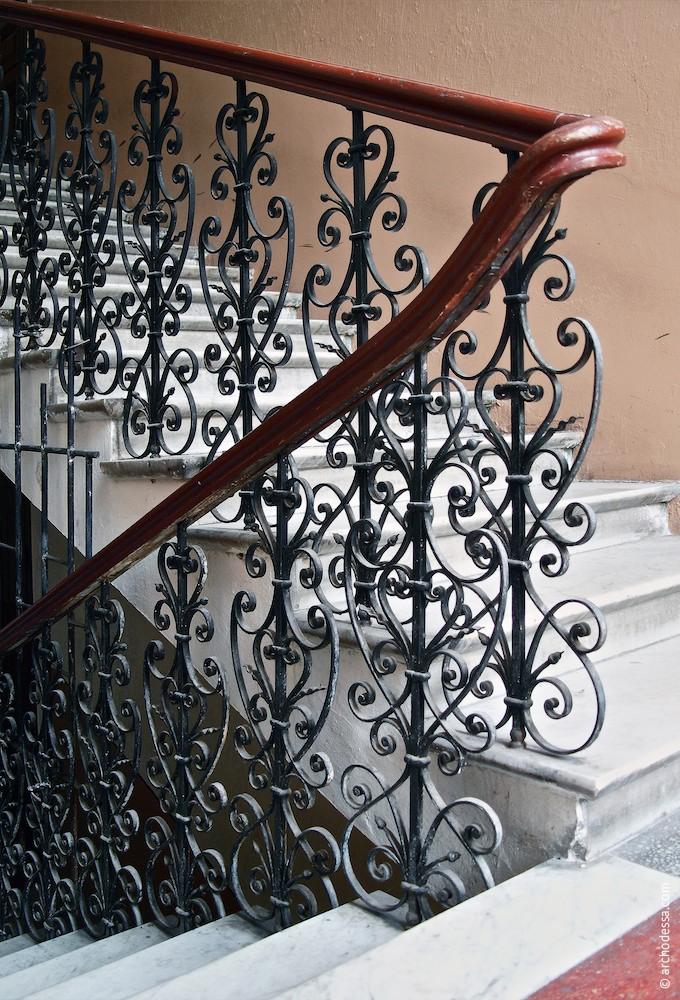 Treppenlaufgeländer, ein Ausschnitt