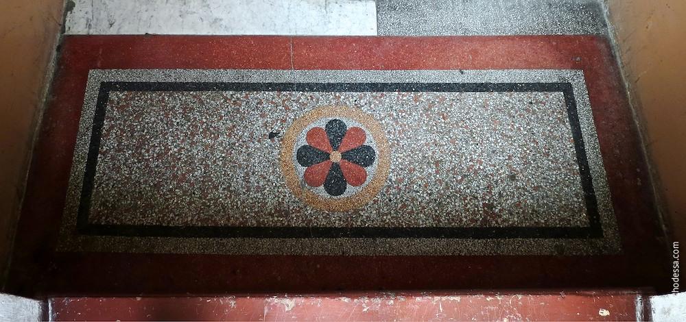 Treppenabsatzmosaik