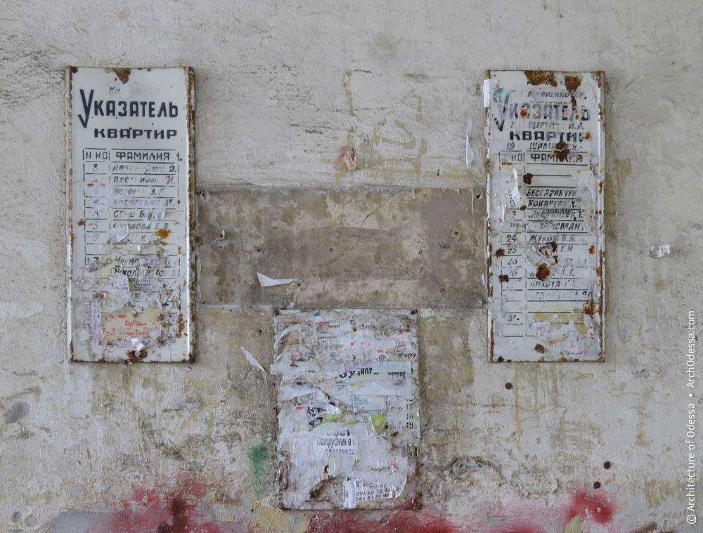 Советские квартирные указатели