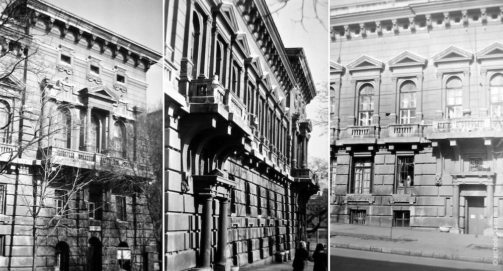 Фрагменты фасада здания на фото Владимира Георгиевича Никитенко, 70-е годы