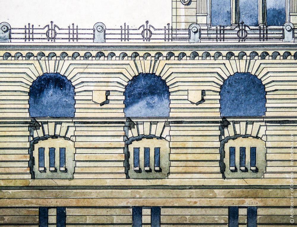 Окна второго и третьего этажей опорной башни