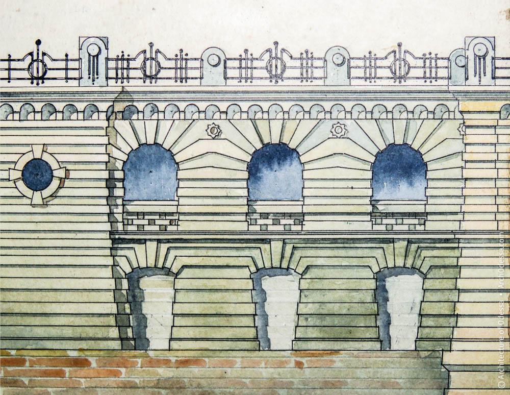 Окна галереи между опорной башней и лестницей