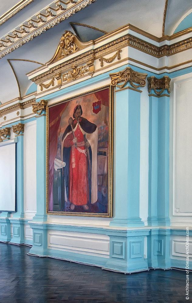Груба с портретом Б. Хмельницкого