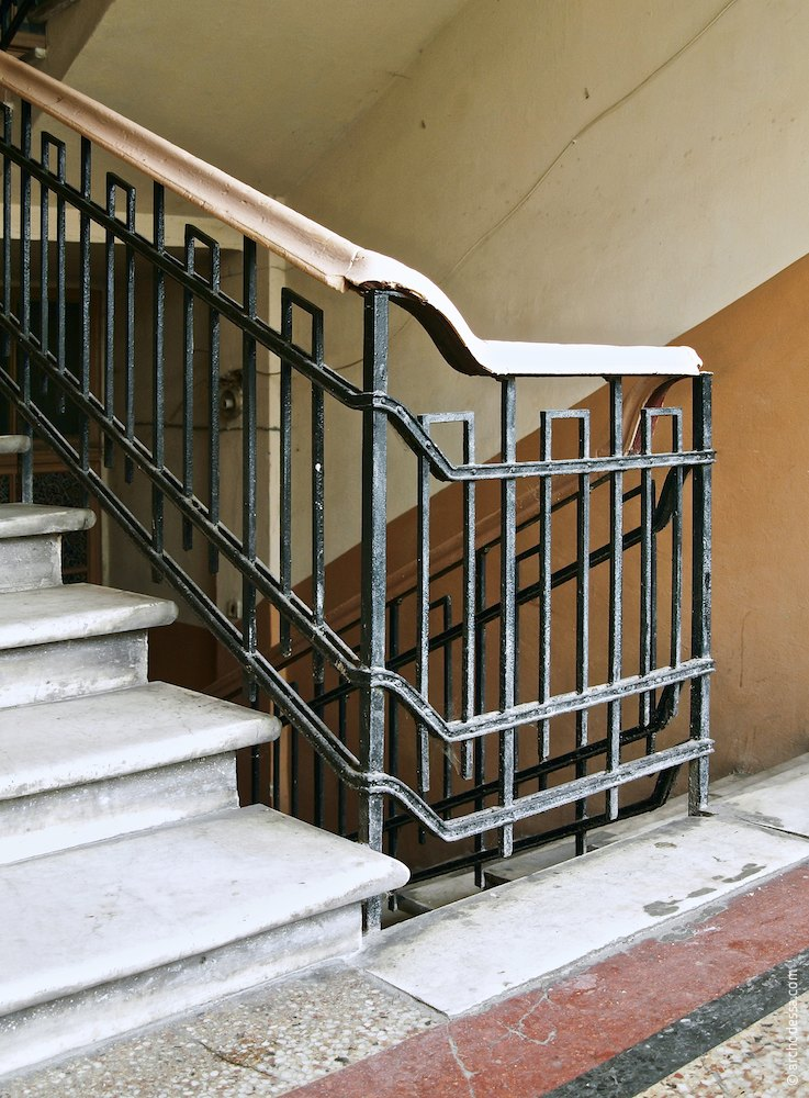 Railings, a fragment of the flight of stairs