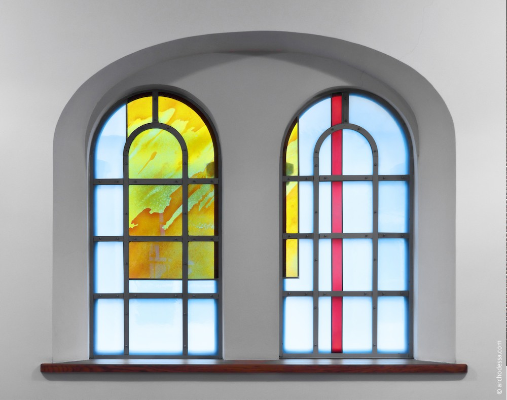 One of the lower tier windows stained glasses