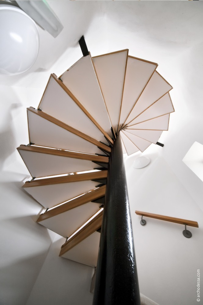 A view of the staircase