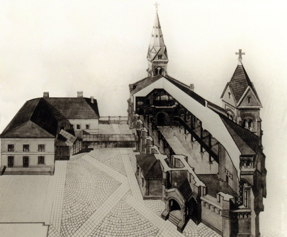 Кирха в Одессе. Немецкая церковь.