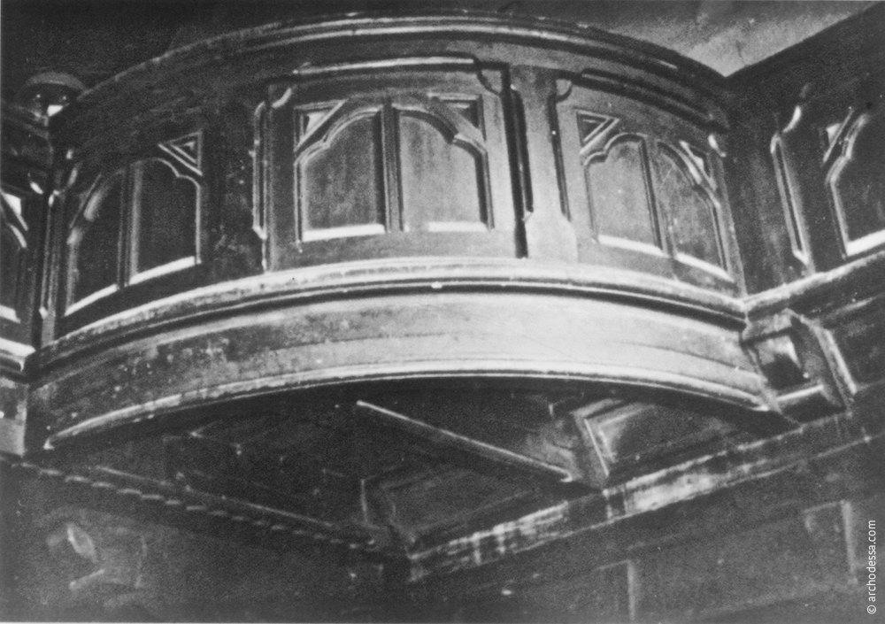 Organ choir part over the main entrance, 1975