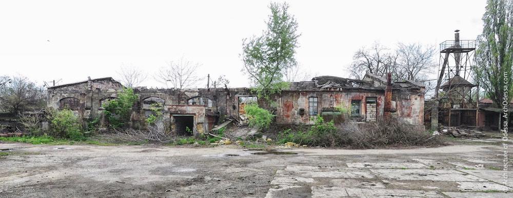 Пакгауз, найближчий до виробничих корпусів, загальний вигляд з території заводу
