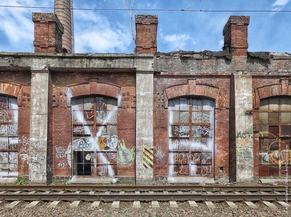 Один з малих виробничих корпусів, фрагмент фасаду