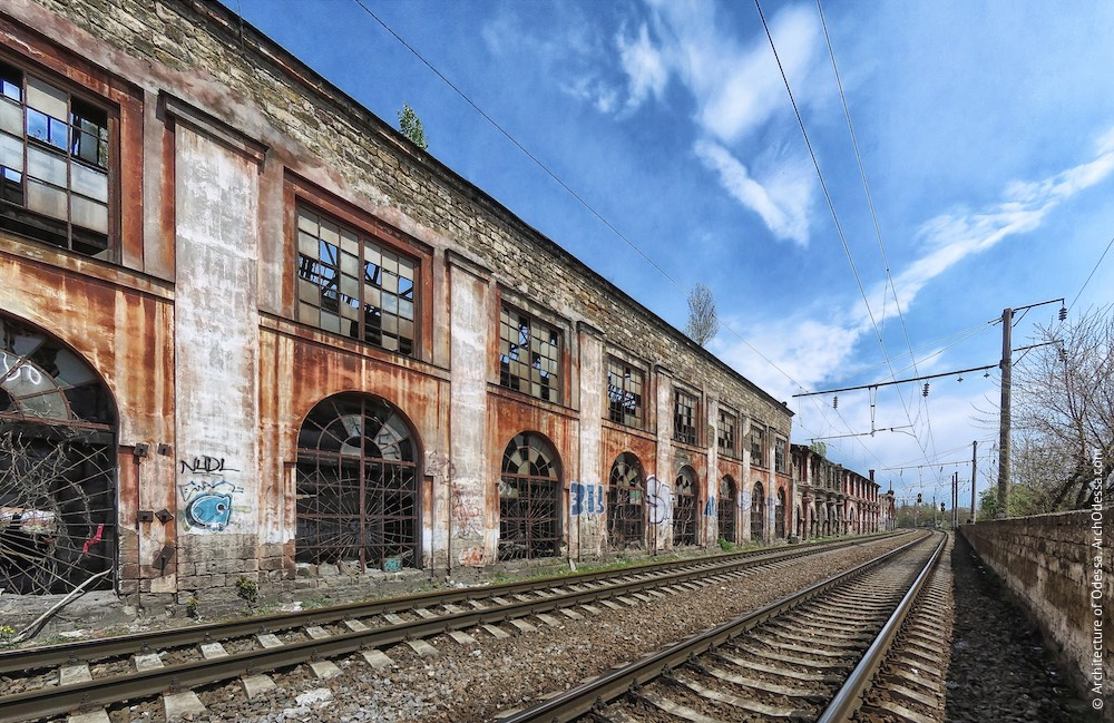 Головні корпуси ковальсько-ливарних майстерень, лівобічний корпус, фрагмент фасаду