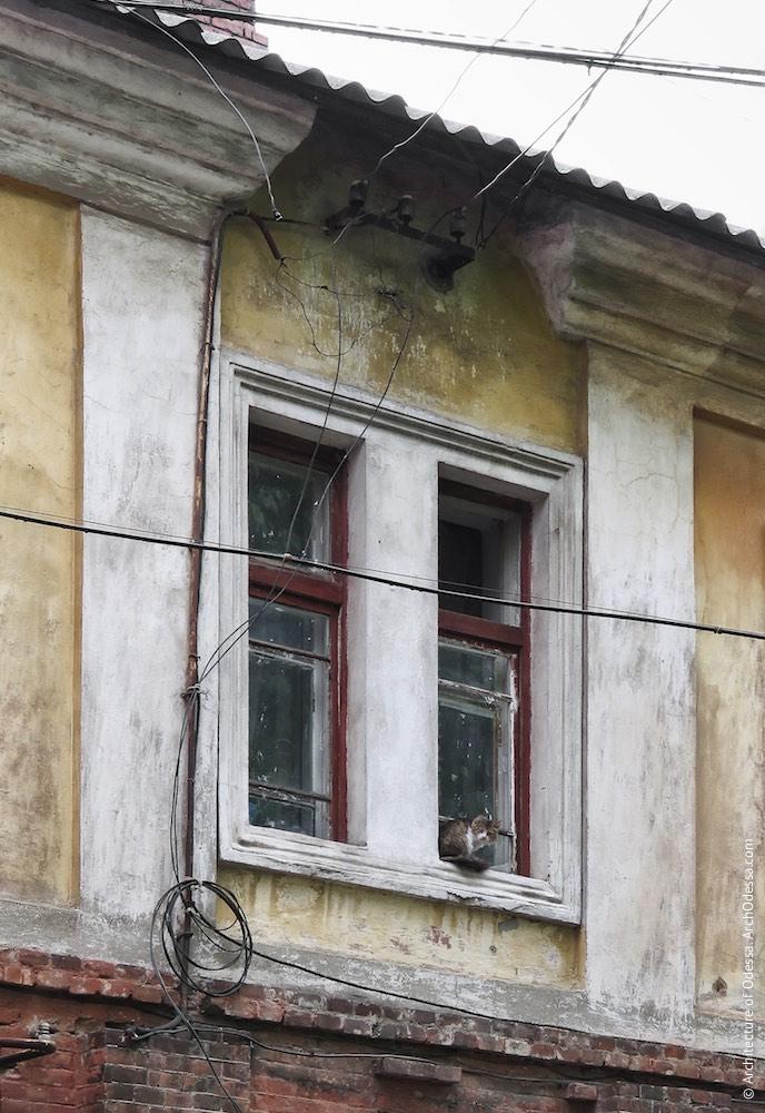 Одно из сдвоенных окон тыльного фасада