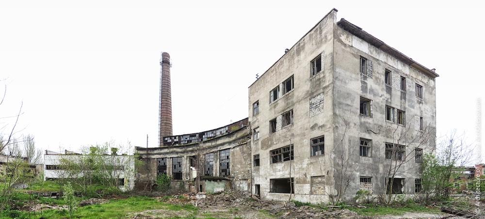 Краян. Труба и производственный корпус. Архитектура Одессы