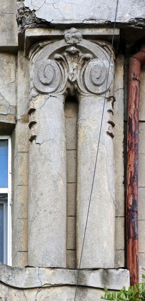 demi-colonnes géminées
