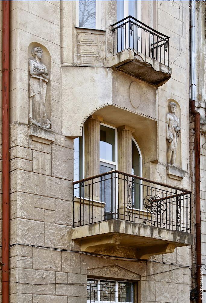 Marazlievskaya 14b. Maison de rapport de J. A. Nahum. L'architecture d'Odessa. Histoire d'Odessa. Tourisme à Odessa. Ukraine