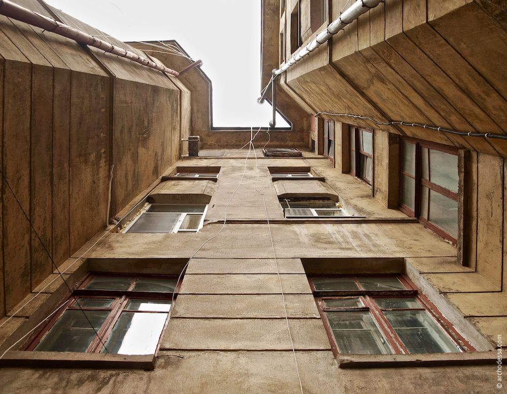Marazlievskaya, 14b. Maison de rapport de J. A. Nahum. L'architecture d'Odessa. Histoire d'Odessa. Tourisme à Odessa. Ukraine