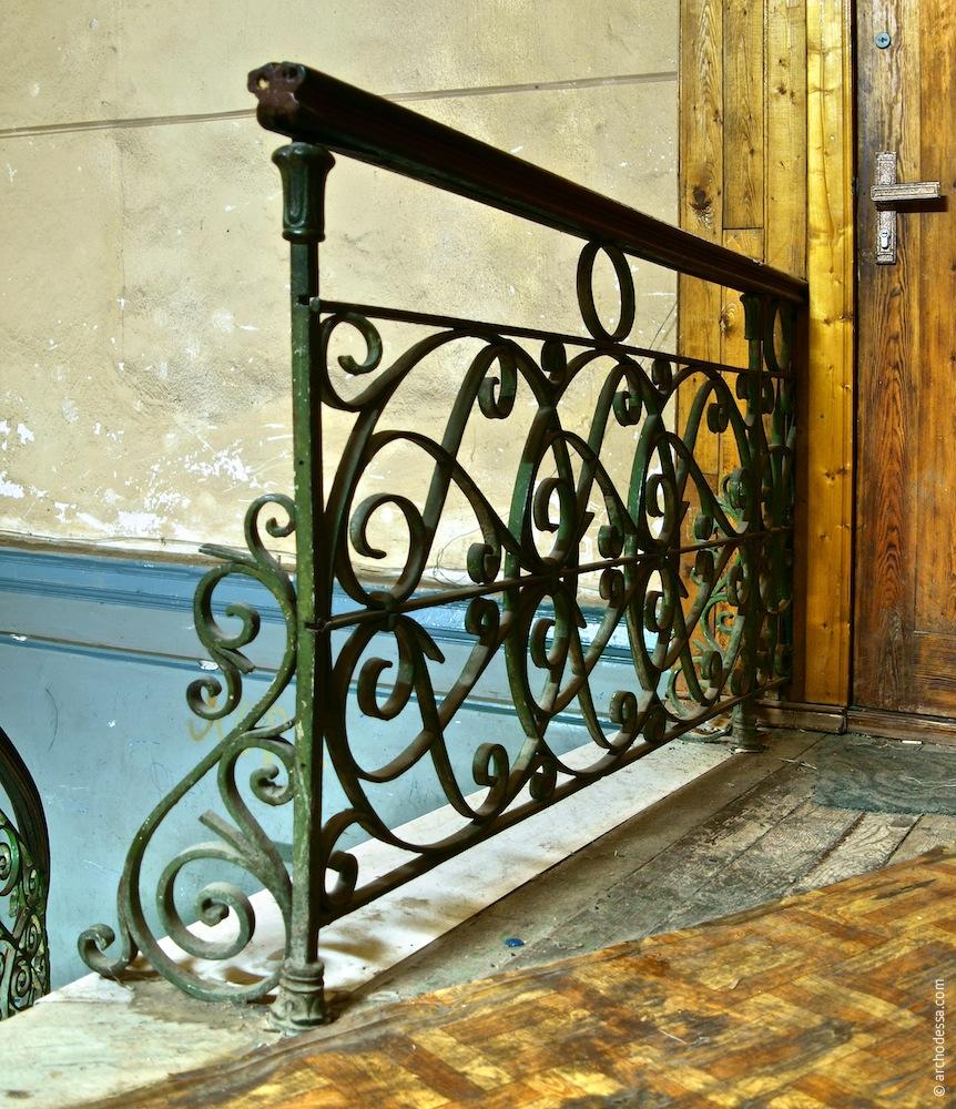 Geländer des Treppenabsatzes