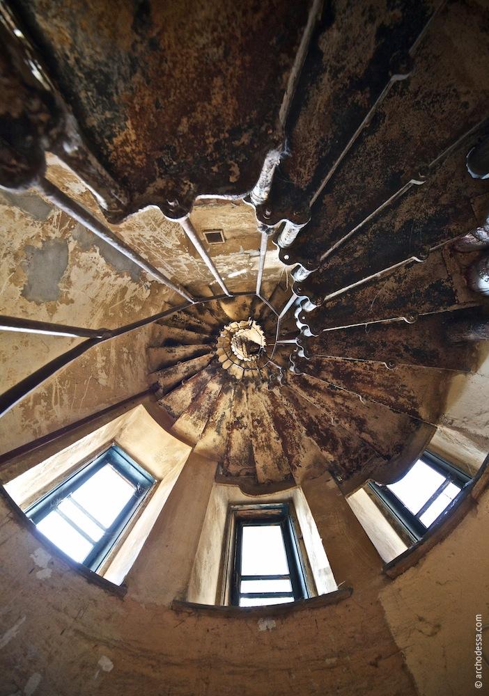Treppenauge, Ansicht von unten