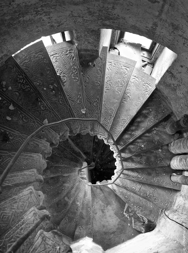 Treppenauge, Ansicht von oben (Foto aus 2009)