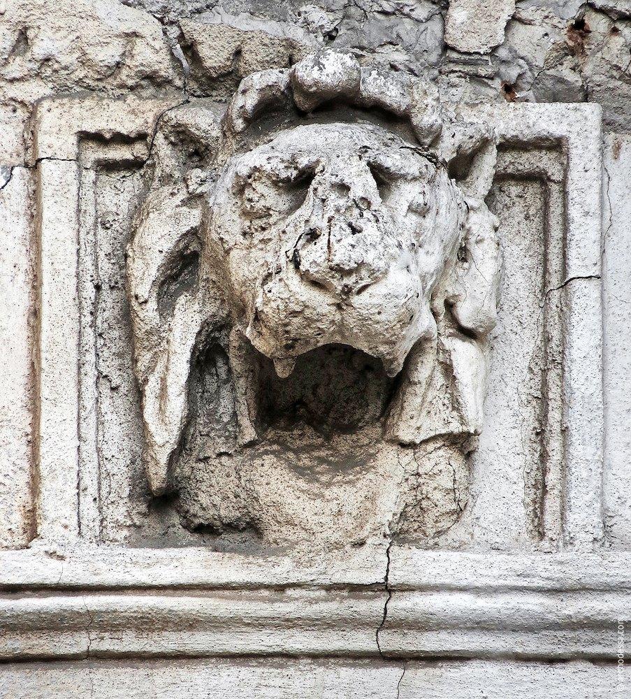 Левовий маскарон над лопатками