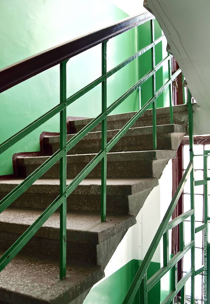 Fragment of stair rails