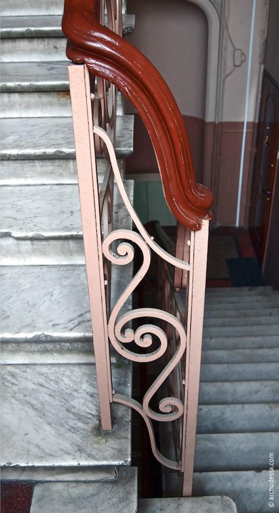 Übergang zwischen Treppenläufen