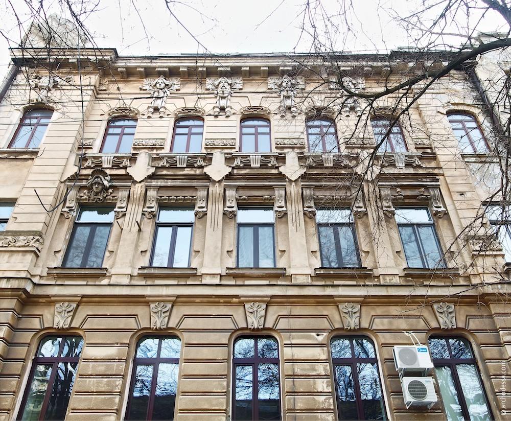 Straßenfassade Nachimow-Gasse, ein Ausschnitt