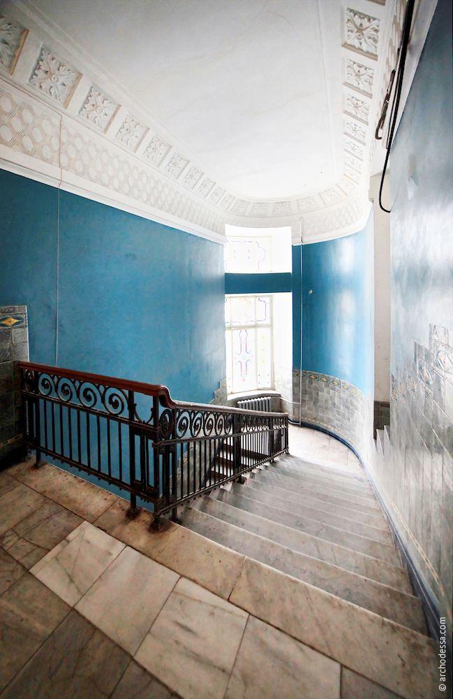 Treppenabsatz im obersten Stockwerk