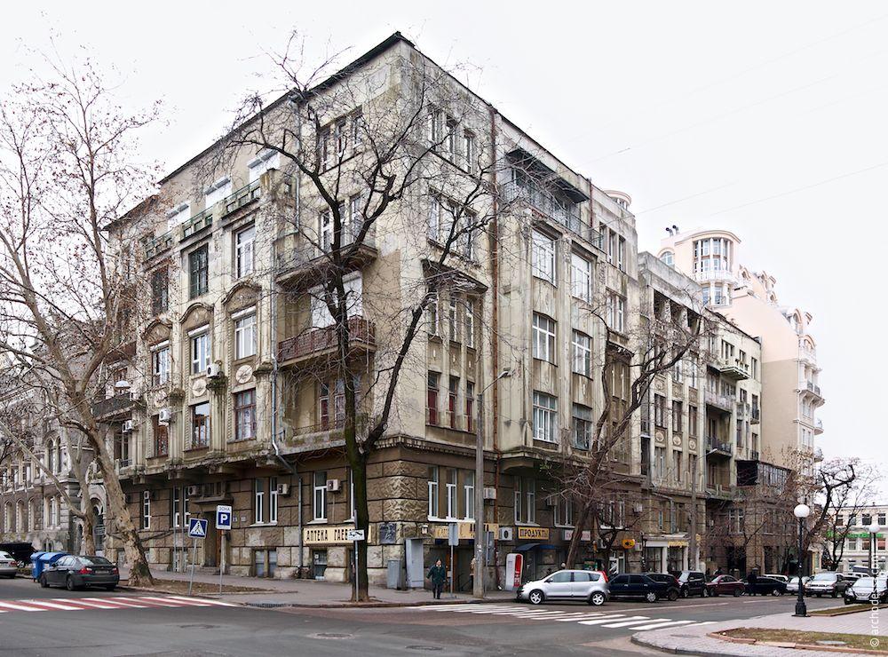 Die Fassade Marazlijewskaja-Straße