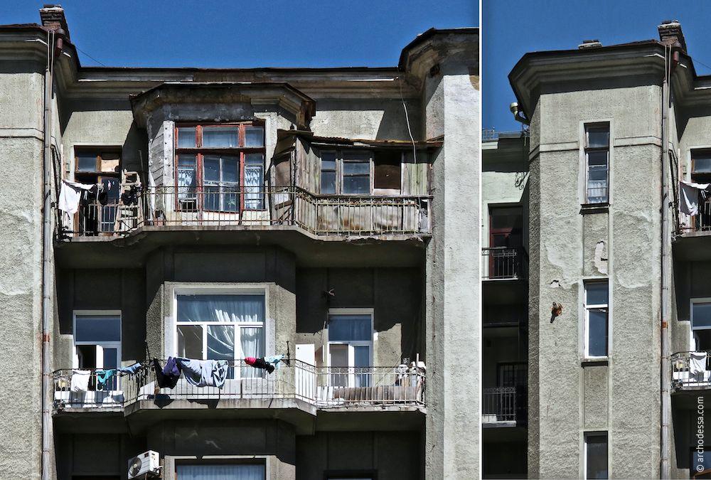 Balkone und Treppenhausrisalit