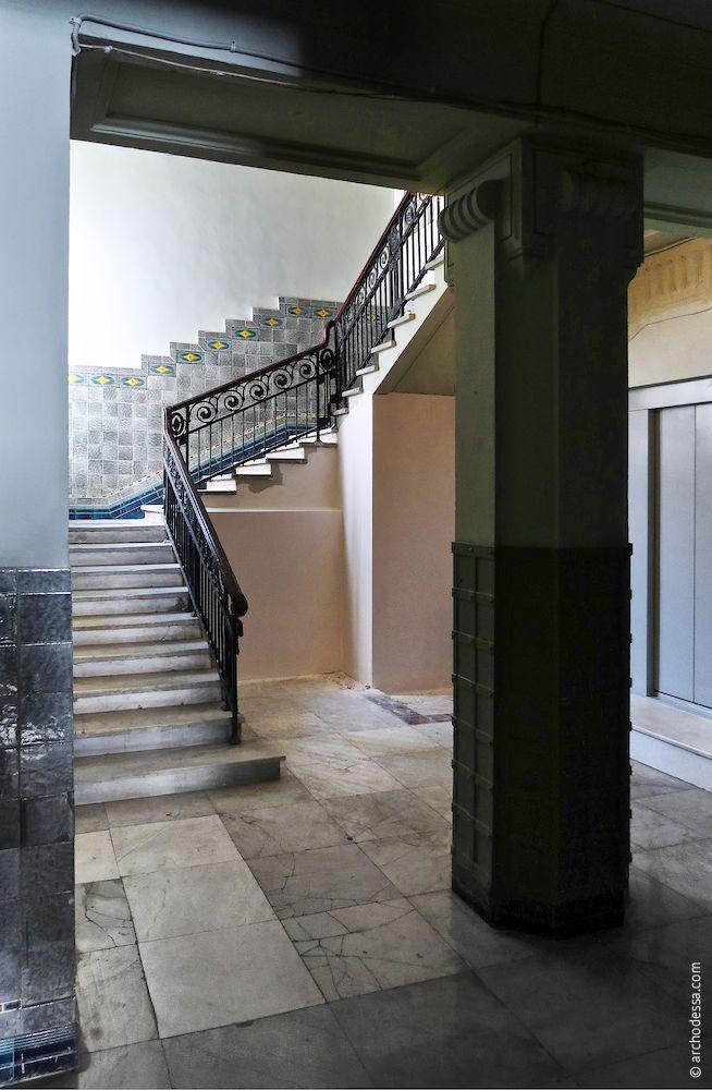 Treppenabsatz vom Hausflur aus