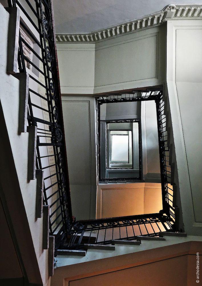 Treppenauge von unten nach oben