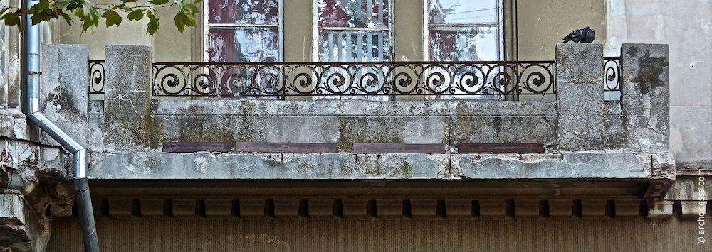 Balkon im 2. Stock, Marazlijewskaja-Straße