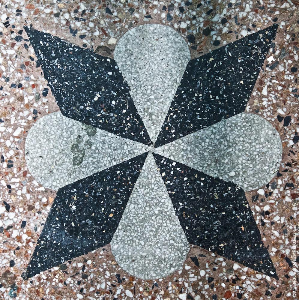 Бетоно-мозаичный узор