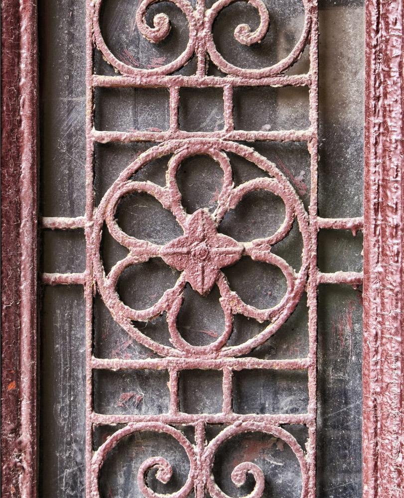 Дверь тыльного флигеля, решетка створки, деталь