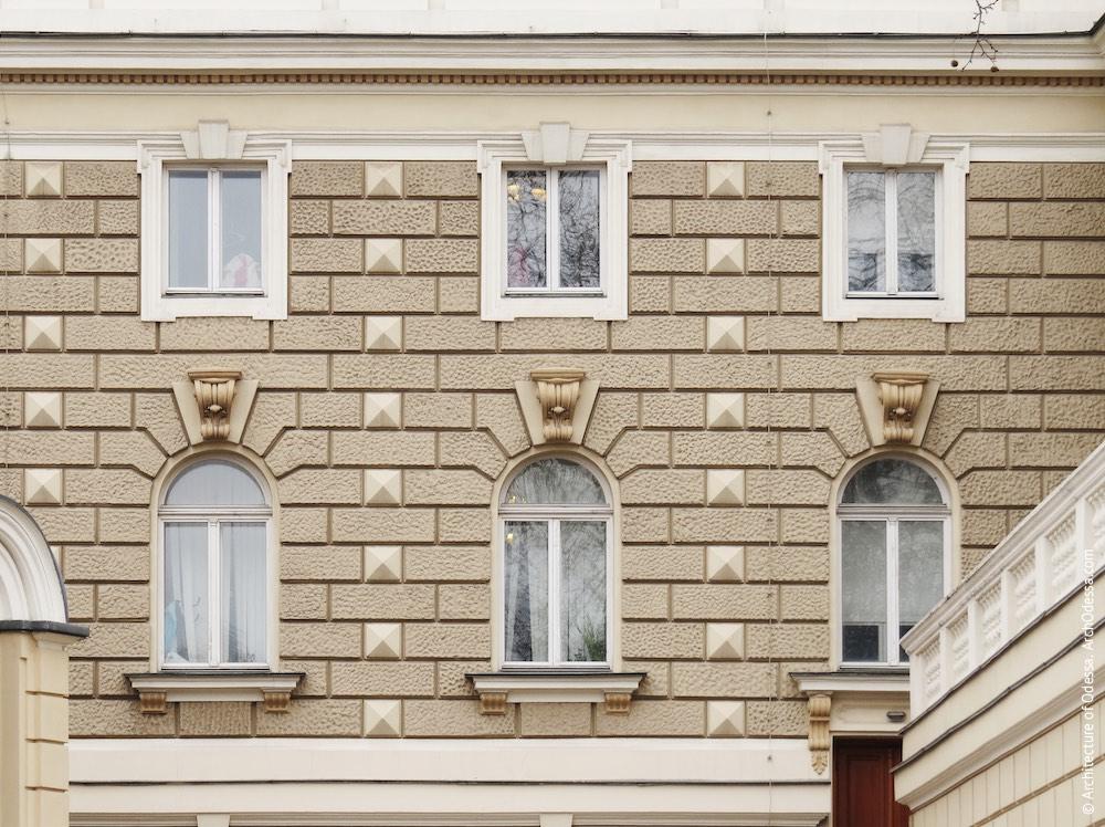 Фрагмент фасадной плоскости первого и второго этажей