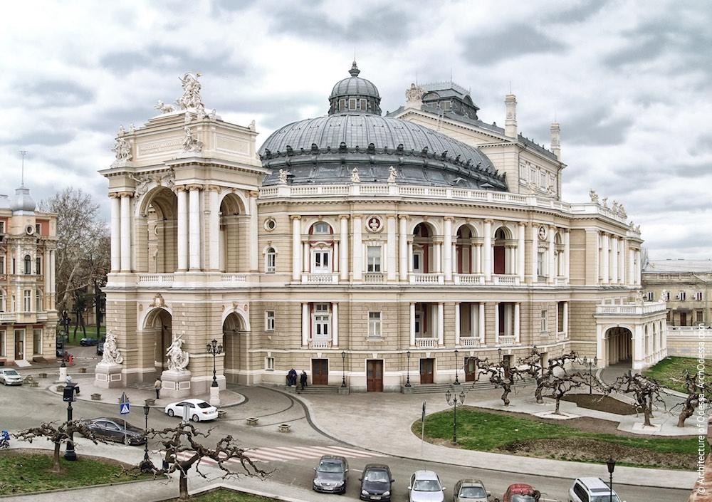 Фасады. Одесский национальный академический театр оперы и балета. Архитектура Одессы