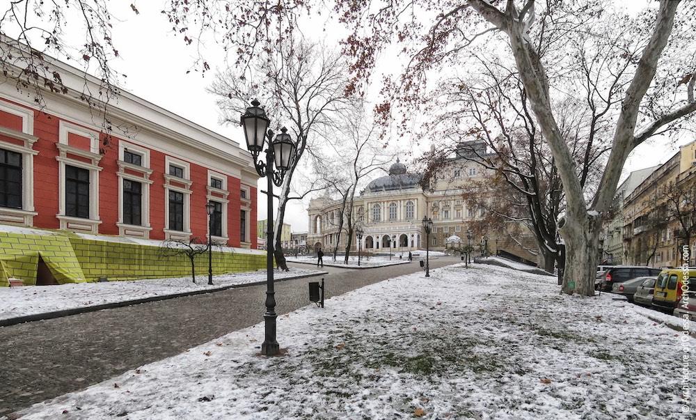 Театральный сад. Одесский национальный академический театр оперы и балета. Архитектура Одессы