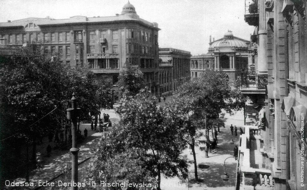 Вид театра из окна дома Рено, фотография сделана после 1912 г.