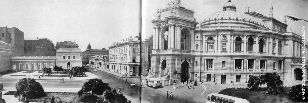 Панорама театра и Театральной площади, 1970 г.