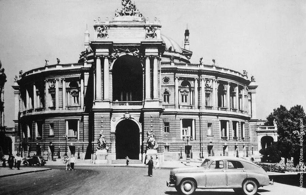 Вид театра с Ришельевской, 1961 г.