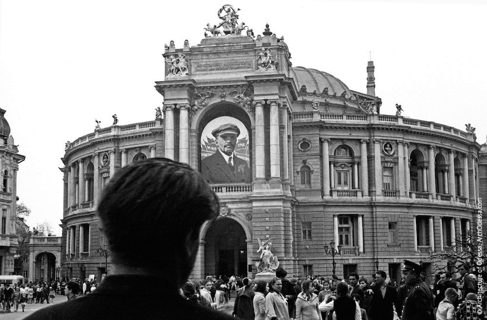 Вид театра с Ришельевской, 1970 г.