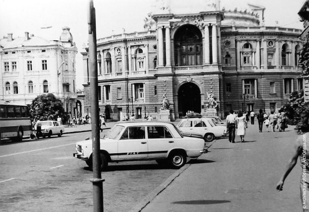 Вид театра с Ришельевской, 1981 г.