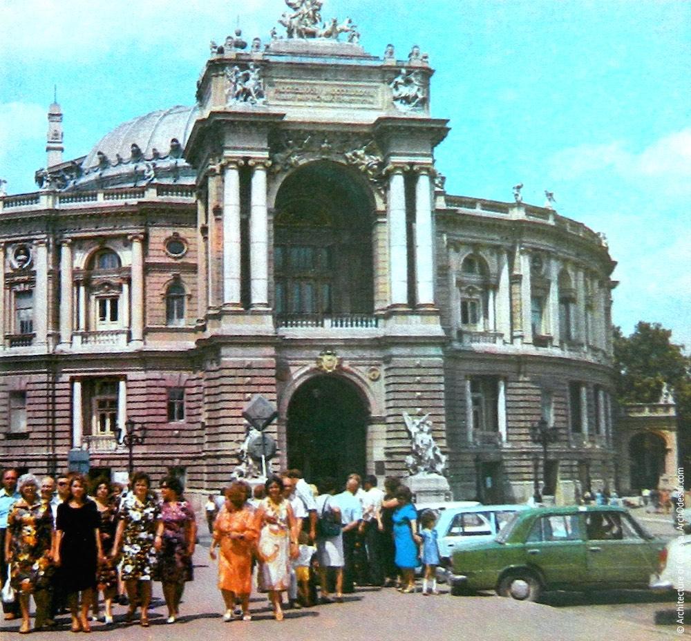 Вид театра с Ришельевской, 1982 г.