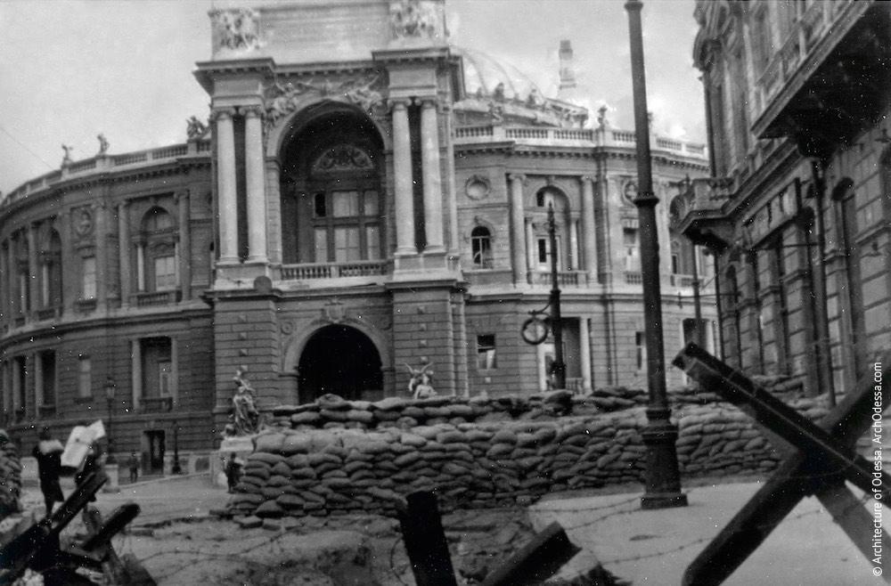 Период Великой Отечественной войны. Одесский национальный академический театр оперы и балета. Архитектура Одессы