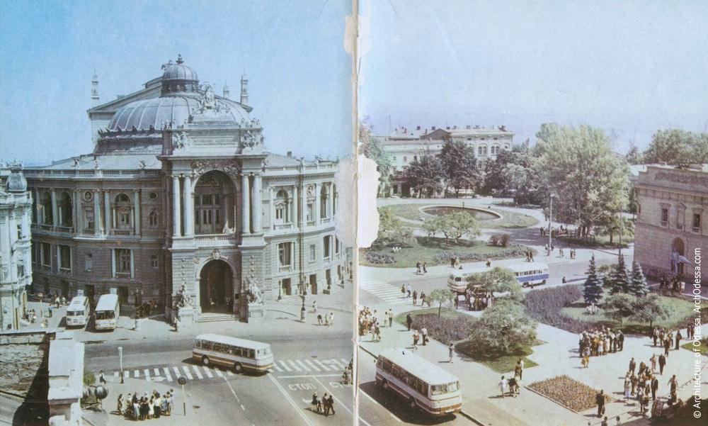 Вид театра и Театрального сада, 1970-е г.г.