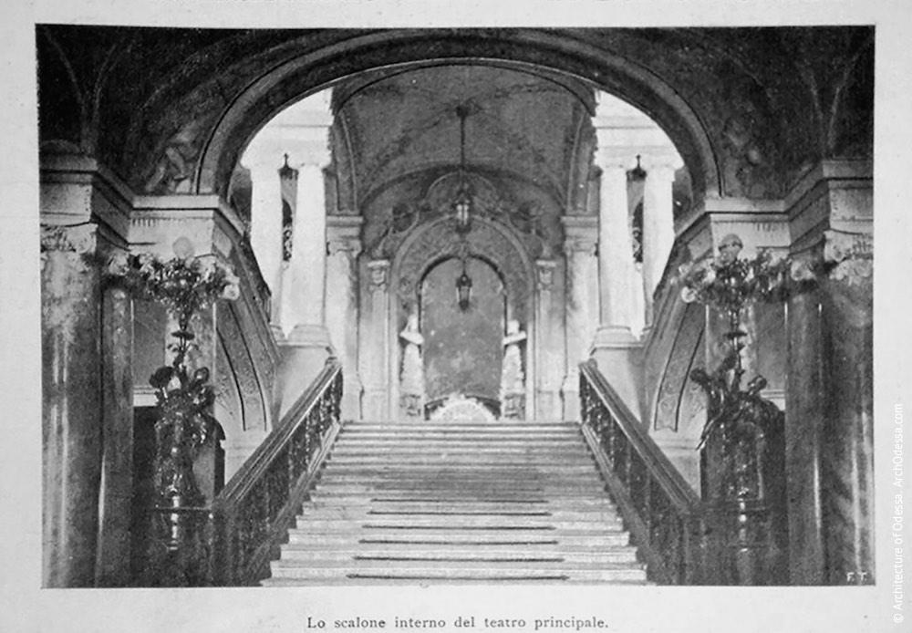 Вид на лестницу от входа, фотография из французского издания нач. XX в.